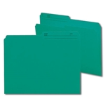 Smead 10379 Teal Reversible File Folder, 1/2-Cut Printed Tab, Letter