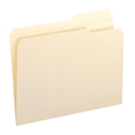 Smead 10386 Manila File Folders, Reinforced 2/5-Cut Right Position Tab, Guide Height, Letter