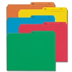 Smead 10394 Assorted Reversible File Folder, 1/2-Cut Printed Tab, Letter