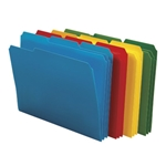 Smead 10500 Assorted Poly File Folder, 1/3-Cut Tab, Letter