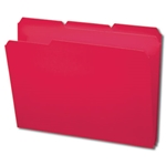 Smead 10501 Red Poly File Folder, 1/3-Cut Tab, Letter