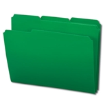Smead 10502 Green Poly File Folder, 1/3-Cut Tab, Letter