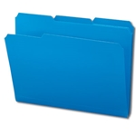 Smead 10503 Blue Poly File Folder, 1/3-Cut Tab, Letter