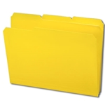 Smead 10504 Yellow Poly File Folder, 1/3-Cut Tab, Letter
