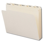 Smead 11765 Manila Indexed File Folder Set, Monthly (Jan.-Dec.) Folders, Reinforced 1/5-Cut Tab, Letter