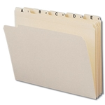 Smead 11777 Manila Indexed Folder Set, Alphabetic (A-Z) Folders, Reinforced 1/5-Cut Tab, Letter