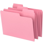 Smead 11820 Pink SuperTab File Folder, Oversized 1/3-Cut Tab, Letter