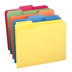 Smead 11943 Assorted File Folder, 1/3-Cut Tab, Letter