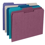 Smead 11948 Assorted File Folder, 1/3-Cut Tab, Letter
