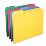 Smead 11951 Assorted WaterShed/CutLess File Folder, 1/3-Cut Tab, Letter
