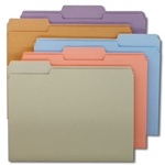 Smead 11953 Assorted File Folder, 1/3-Cut Tab, Letter