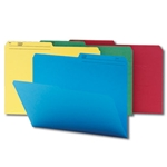 Smead 11958 Assorted WaterShed/CutLess File Folder, 1/2-Cut Tab, Letter