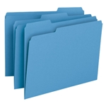 Smead 12043 Blue File Folder, 1/3-Cut Tab, Letter