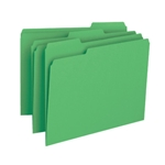 Smead 12143 Green File Folder, 1/3-Cut Tab, Letter