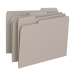 Smead 12343 Gray File Folder, 1/3-Cut Tab, Letter