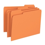 Smead 12543 Orange File Folder, 1/3-Cut Tab, Letter