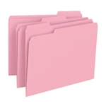 Smead 12643 Pink File Folder, 1/3-Cut Tab, Letter