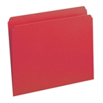 Smead 12710 Red File Folder, Reinforced Straight-Cut Tab, Letter