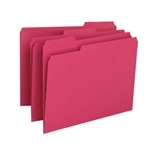 Smead 12743 Red File Folder, 1/3-Cut Tab, Letter