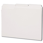 Smead 12843 White File Folder, 1/3-Cut Tab, Letter
