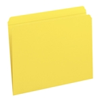 Smead 12910 Yellow File Folder, Reinforced Straight-Cut Tab, Letter