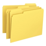 Smead 12943 Yellow File Folder, 1/3-Cut Tab, Letter