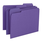 Smead 13043 Purple File Folder, 1/3-Cut Tab, Letter
