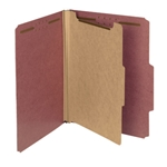 Smead 13746 Red 100% Recycled Pressboard Classification Folder, 1 Divider, 2