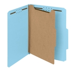 Smead 13748 Blue 100% Recycled Pressboard Classification Folder, 1 Divider, 2