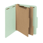 Smead 14023 Gray/Green 100% Recycled Pressboard Classification Folder, 2 Dividers, 2