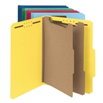 Smead 14049 Assorted 100% Recycled Pressboard Classification Folder, 2 Dividers, 2