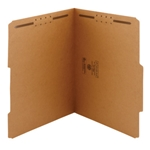 Smead 14880 Kraft Fastener File Folder, 2 Fasteners, Reinforced 2/5-Cut Tab Right of Center Position, Letter
