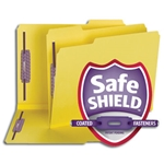 Smead 14939 Yellow Pressboard Fastener Folder with SafeSHIELD Fasteners, 2 Fasteners, 1/3-Cut Tab, 2
