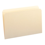 Smead 15310 Manila File Folders, Reinforced Straight-Cut Tab, Legal