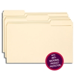 Smead 15338 Manila File Folder with Antimicrobial Product Protection, 1/3-Cut Tab, Legal