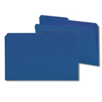 Smead 15362 Navy Blue Reversible File Folder, 1/2-Cut Printed Tab, Legal