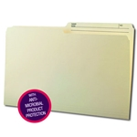 Smead 15377 Manila Reversible File Folder with Antimicrobial Production Protection, 1/2-Cut Printed Tab, Legal