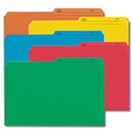 Smead 15394 Assorted Reversible File Folder, 1/2-Cut Printed Tab, Legal