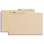 Smead 15445 Manila Reversible Heavyweight File Folder, 1/2-Cut Printed Tab, Legal