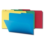 Smead 16958 Assorted WaterShed/CutLess File Folder, 1/2-Cut Tab, Legal