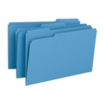 Smead 17043 Blue File Folder, 1/3-Cut Tab, Legal