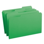 Smead 17134 Green File Folder, Reinforced 1/3-Cut Tab, Legal
