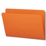 Smead 17510 Orange File Folder, Straight-Cut Tab, Legal