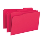 Smead 17743 Red File Folder, 1/3-Cut Tab, Legal