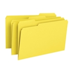 Smead 17943 Yellow File Folder, 1/3-Cut Tab, Legal