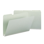 Smead 18234 Gray/Green Pressboard File Folder, 1/3-Cut Tab, 2