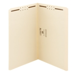 Smead 19513 Manila Fastener File Folder, 2 Fasteners, Reinforced Straight-Cut Tab, Legal