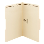 Smead 19537 Manila Fastener File Folder, 2 Fasteners, Reinforced 1/3-Cut Tab, Legal