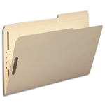 Smead 19587 Manila Fastener File Folder, 2 Fasteners, Reinforced 2/5-Cut Tab Right Position, Guide Height, Legal