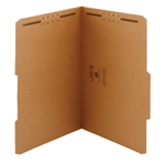 Smead 19880 Kraft Fastener File Folder, 2 Fasteners, Reinforced 2/5-Cut Tab Right of Center Position, Legal